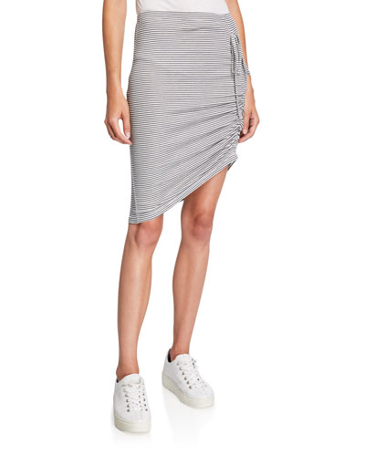 Alto Striped Skirt with Side Ruching
