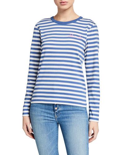Dolce Vita Striped Long-Sleeve Tee