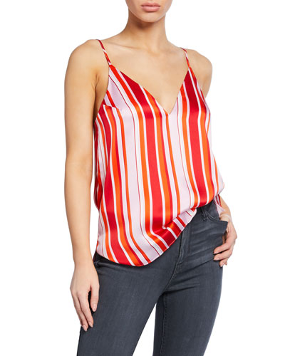 Olivia Striped Silk Camisole
