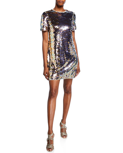 3a5289ce151 Sequined Shift Dress | Neiman Marcus