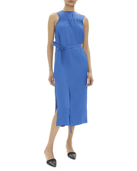 Helmut Lang Elasticized Sleeveless Midi Dress