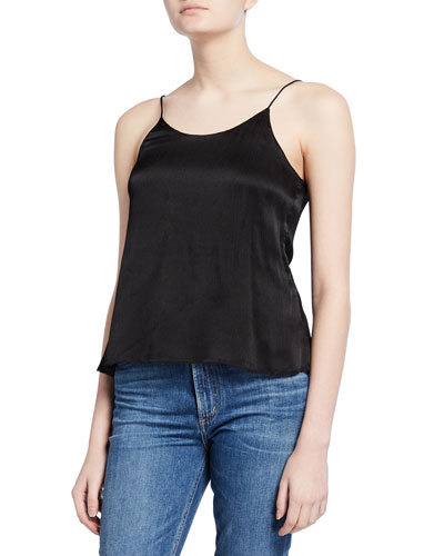 Sarah Silk Button-Back Cami