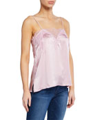 Cami NYC Sweetheart Silk Charmeuse Camisole with Lace