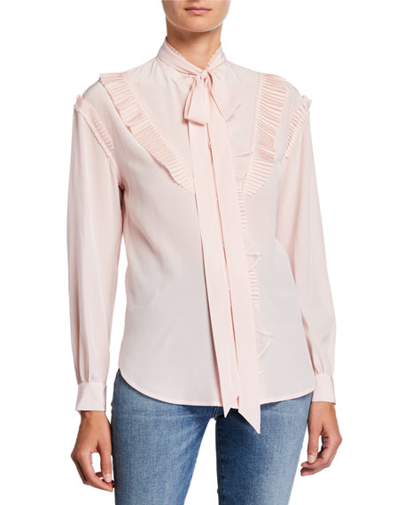 Coach Glam Rock Prairie Top w/ Ruffles