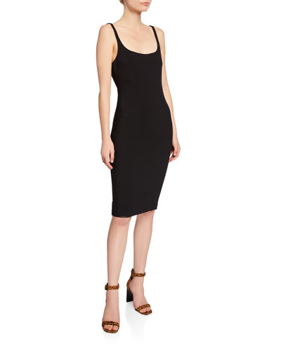 Gabrielle Scoop-Neck Sleeveless Dress
