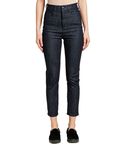 Denim High-Waisted Cropped Jeans
