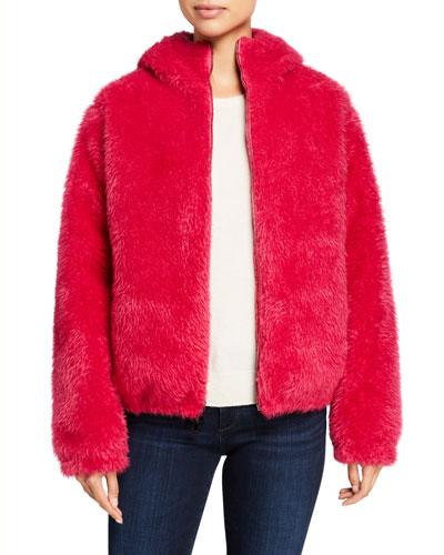 Kolima Faux Fur Jacket w/ Hood