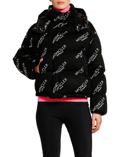 Caille Logo Puffer Jacket w/ Contrast Hood