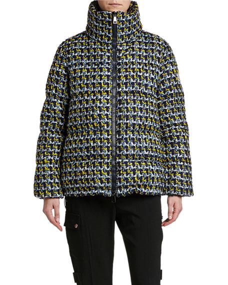 Moncler Elby Tweed Puffer Coat