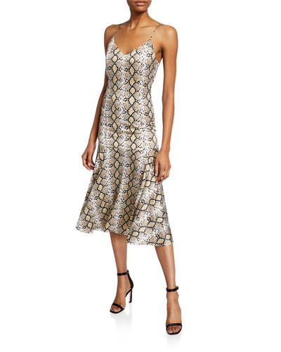 Kai Python Slip Dress