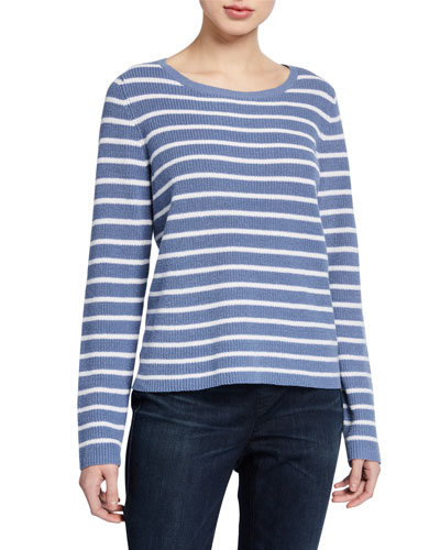Striped Scoop-Neck Sweater