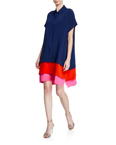 Hatsu Silk Crepe De Chine Shirt Dress