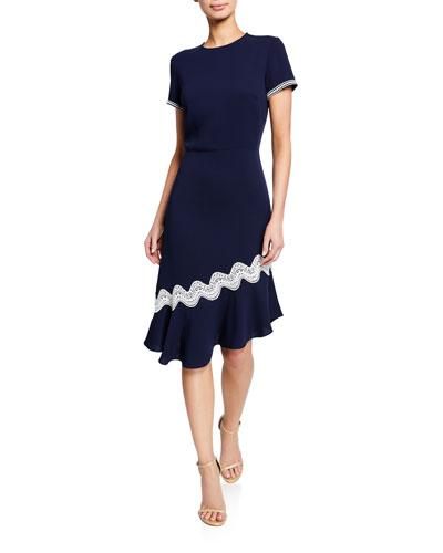 98840fa516 Polyester Crepe Dress   Neiman Marcus