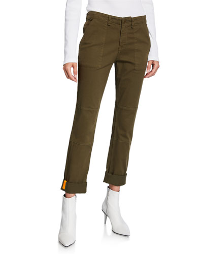Adrina Skinny Army Pants with Cuffs