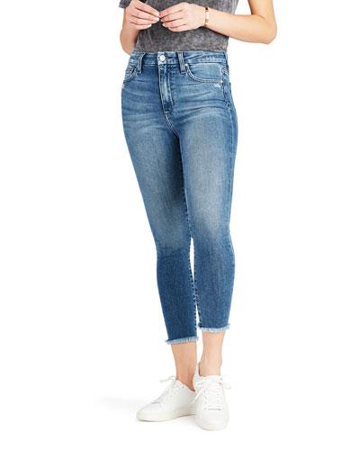 The Hi Honey Crop Fray-Hem Jeans
