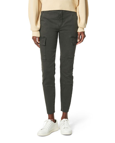The Charlie Ankle Cargo Pants with Cut Hem