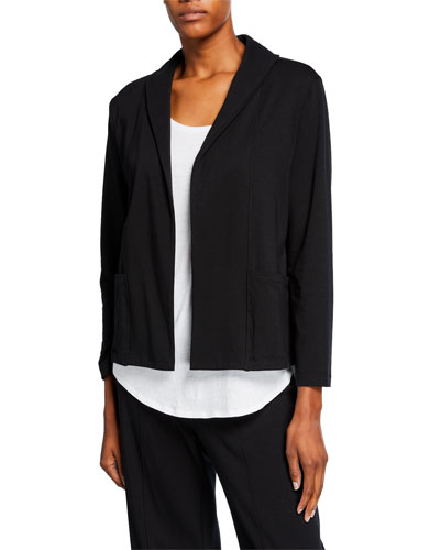 Shawl Collar Organic Cotton Jersey Jacket