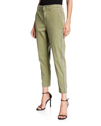 Jem High-Rise Trousers w/ Side Stripes