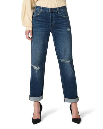 The Niki Boyfriend Jeans with Rolled Cuffs