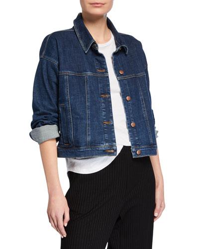 Petite Cropped Jean Jacket