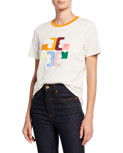 Colorblock Logo Short-Sleeve T-Shirt