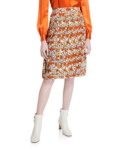 Blossom Ditsy Pleated Skirt