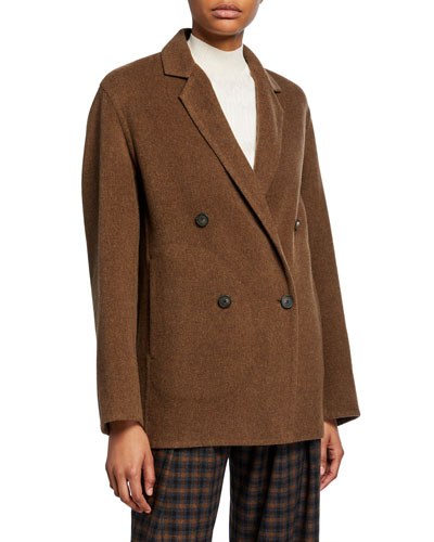 Double-Breasted Cardigan Coat