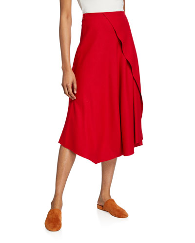 Asymmetric Drape Skirt