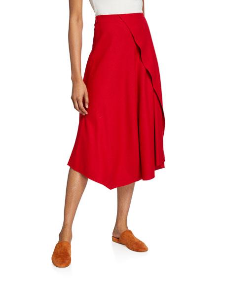 Vince Asymmetric Drape Skirt
