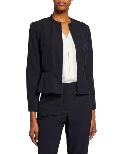 0967b8245 Fitted Peplum Jacket | Neiman Marcus
