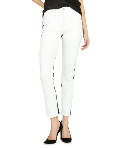 Barbara Two-Tone Ankle Skinny Jeans