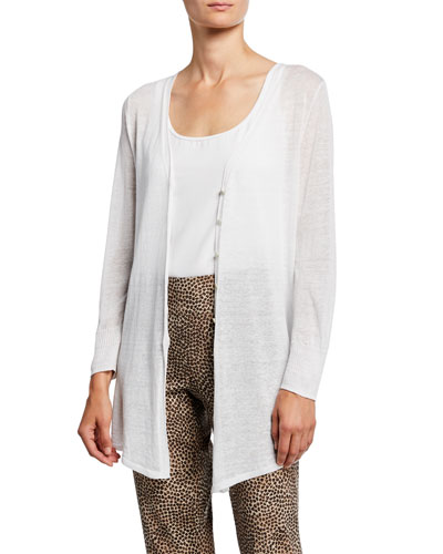Petite Carefree Button-Front Cardigan
