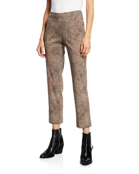 NIC+ZOE Plus Size Savanna Spot Printed Wonderstretch Pull-On Ankle Pants