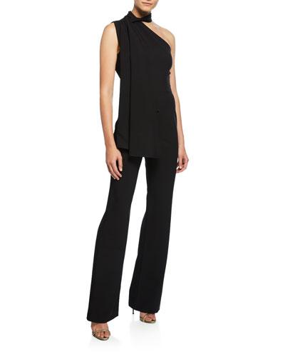 1262989a Black Sleeveless Jumpsuit | Neiman Marcus