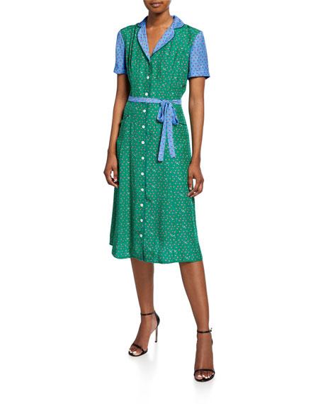 HVN Maria Button-Down Pajama Dress
