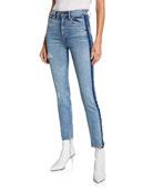 Hudson Barbara High-Rise Skinny Jeans with Side Seam