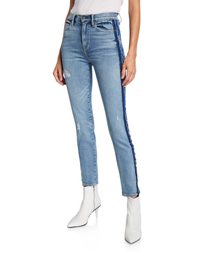 Barbara High-Rise Skinny Jeans with Side Seam Detail