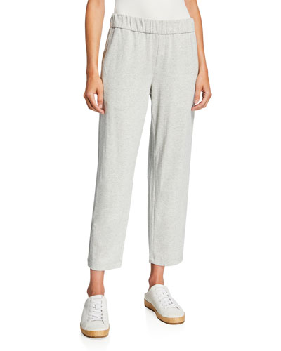 Petite Speckle Knit Tapered Ankle Pants