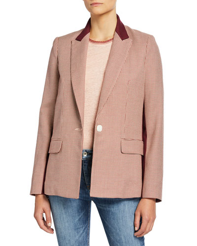 Elizabeth Single-Button Blazer