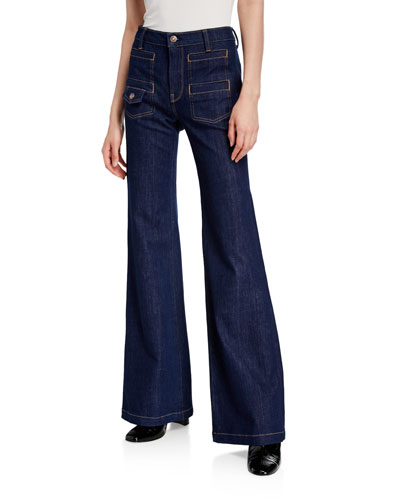 Georgia High-Rise Wide-Leg Jeans
