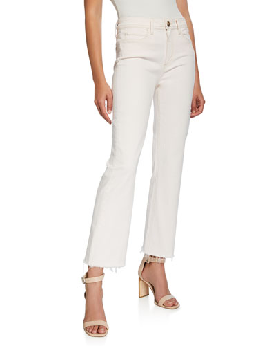 Atley Ankle Flare Jeans with Raw Hem