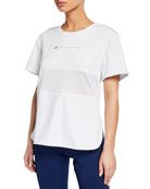 adidas by Stella McCartney Run Loose Short-Sleeve Athletic