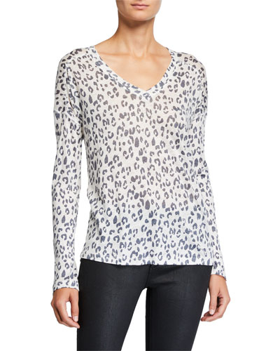 Sami Leopard-Print V-Neck Top