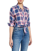 Rails Hunter Plaid Button-Down Top