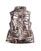 Imoga Kid's Metallic Nylon Vest, Size 4-6 and