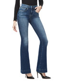 Good American Good Flare Jeans w/ Trouser Hem