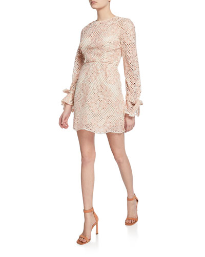 Elixir Long-Sleeve Mini Dress