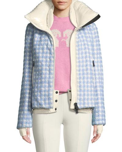 Mufule Hooded Check Puffer Jacket