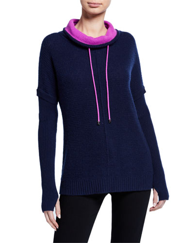 Petite Well Traveled Cashmere Funnel-Neck Sweater