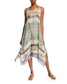 Johnny Was Melody Mixed Print Sleeveless Georgette Dress